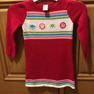 Gymboree girls sweater dress. Size 4. Multicolor.